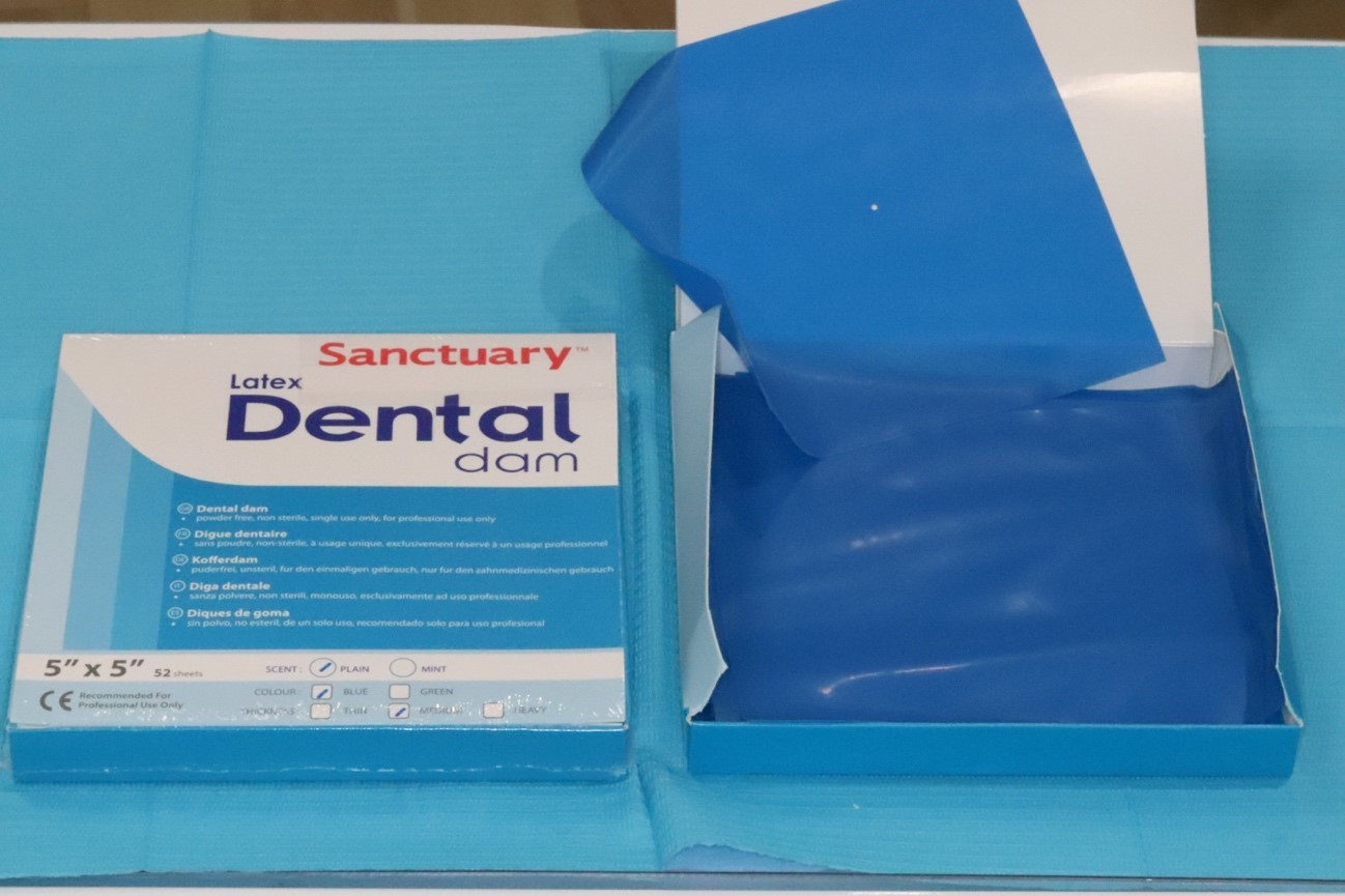 目白マリア歯科で使用するラバーダムの画像